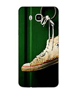 Case Cover Shoe Printed Green Hard Back Cover For SAMSUNG Galaxy J5 - 6 (New 2016 Edition)