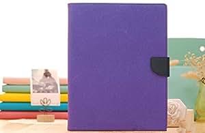 CZap Mercury Diary Goospery Card Wallet Flip Cover Back Case for Apple iPad Mini - Purple Blue