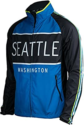 Blue with Black - Seattle Men's Jacket