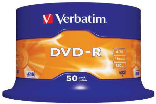 Verbatim-DVD-R-16x-Speed-47GB-50er-Spindel-DVD-Rohlinge