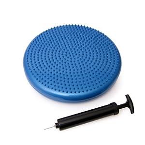 66Fit Wobble Cushion, Pump & DVD - Blue, 35 cm
