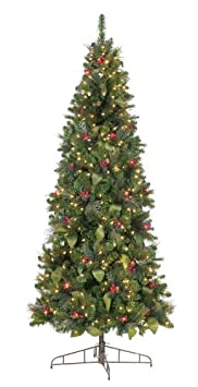 #!Cheap GKI Bethlehem Lighting 7.5-Foot Canterbury Slim Christmas Tree with 300 Energy Star Warm White Frost LED Lights