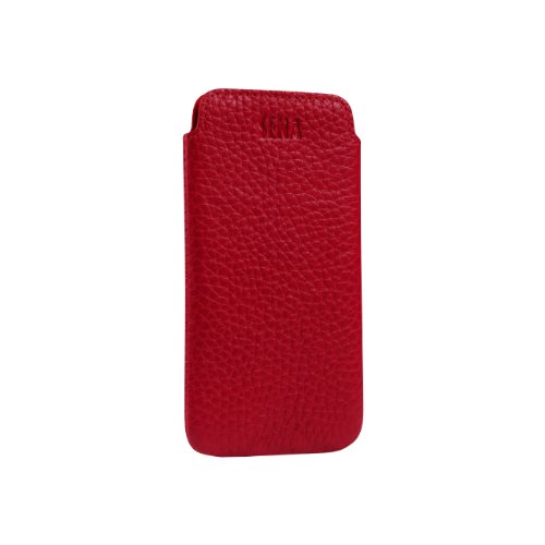 Great Sale Sena 826606 Ultra Slim Leather Sleeve for iPhone 5 & 5s - 1 Pack - Retail Packaging - Red