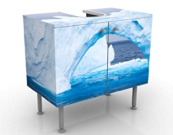wtd arctic iceberg meuble sous vasque motif p le nord oc an arche. Black Bedroom Furniture Sets. Home Design Ideas