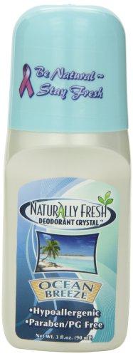 Naturally Fresh Deodorant, Roll On, Ocean Breeze, 3-Ounce Bottles