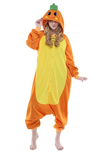 [NEWCOSPLAY Carrot Unisex Adult Onesies Pajamas Cosplay Halloween Anime Costumes (M, Carrot)] (Tigger Carrot Costume)