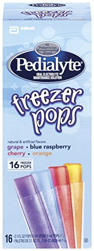 Pedialyte Freezer Pops - Assorted Flavors - 2.1 oz - 16 ct (Pack of 2)