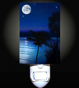 Moonlit Beach Decorative Night Light Home