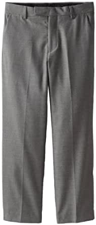 Calvin Klein Big Boys' Pindot Dresswear Pant, Dark Grey, 8