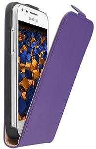 mumbi Leder Flip Case Samsung Galaxy Core Plus Tasche lila (NICHT für Core Duos)