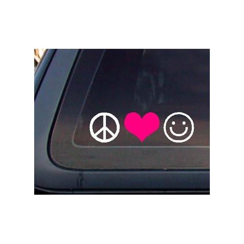 Live Laugh Love Car Decal / Sticker   White