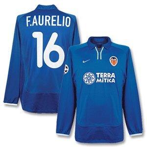 00-01 Valencia 3rd C/L L/S Jersey + F. Aurelio No. 16 - Players - L