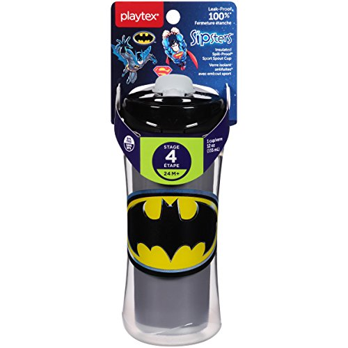 Playtex Sipsters Super Friends Sport Spout Sippy Cups - 12 Ounce