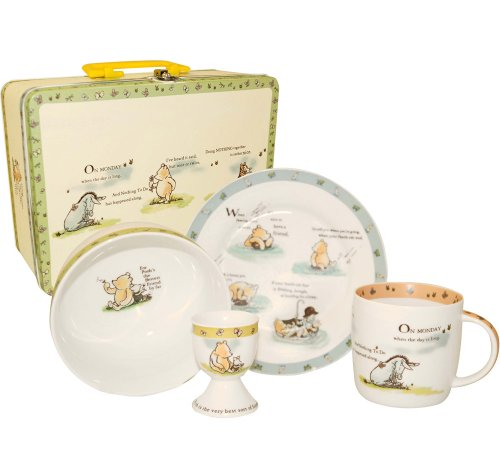 Churchill China Disney Winnie The Pooh Breakfast Set, A Friend Forever Design, Gift Tin