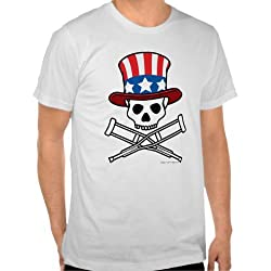"Jackass: ""Americana"" Skull 'N Crutches Tee - Guys"
