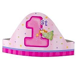 Creative Converting Fairy Princess 1st Birthday Paper Tiaras (8)