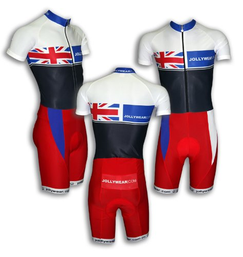Cycling Skinsuit - short sleeves and legs - red (BRITISH_collection)