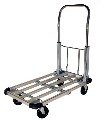 RWM Casters PT-CA Steel Folding Handle Platform Trucks, 330 lbs Capacity, 28