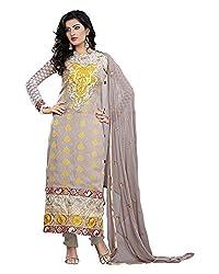 Maruti Suit Women's Viscose Suit Material (M1004, Grey, Free Size)