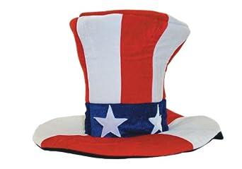 Jacobson Hat Company Men's Giant Velvet Uncle Sam Top Hat, Multi, One Size