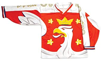 Polish Apparel Polska Hockey Jersey Red by Polish Apparel