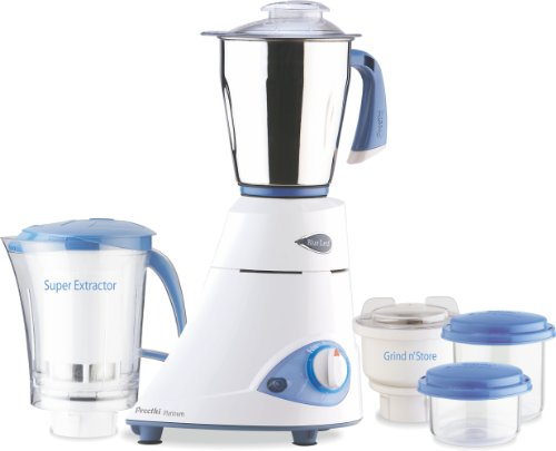Preethi Blue Leaf Platinum 550 Watts 3 Jar Indian Mixer Grinder 110 Volts (India Mixer compare prices)
