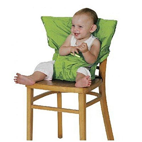 Botetrade-Hochstuhl-baby-tragbarer-Stuhl-Sitzgurt-Hochsthle-fr-Essen-und-Feiertagen-Bequeme-und-nicht-zu-besetzen-Raum-Kindersitz-Fr-Unterwegs-Passt-in-die-Tasche-Eine-zufllige-Farbe-senden-grn