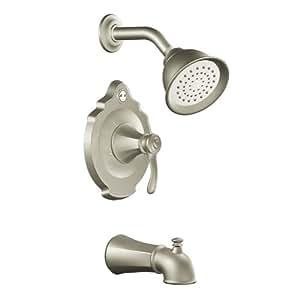 Moen T2503BN Vestige Posi-Temp Tub and Shower Trim Kit without Valve, Brushed Nickel