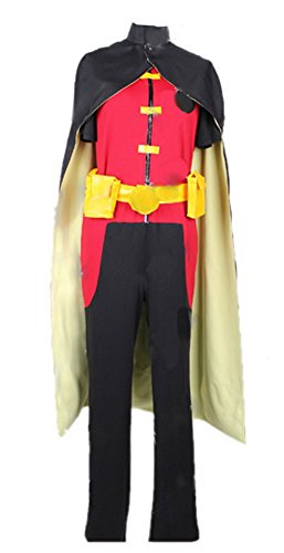 Halloween Kids Robin Cosplay Costume Jumpsuit with Cape Suits for Halloween
