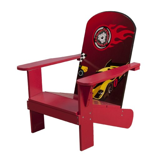 4Gr8 Kidz Racing Series Kids Wooden Adirondack Chair