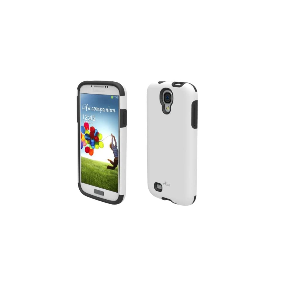 Acase Galaxy S4 Superleggera PRO Dual Layer Protection Case for AT&T, Sprint, T Mobile and Verizon Samsung Galaxy S IV (Galaxy S4, White)