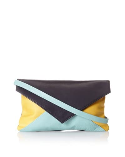 HAYVEN Women's Laredo Envelope Clutch, Navy/Dijion/Baby Blue, One Size