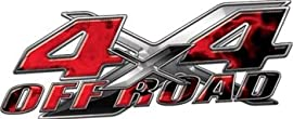 4x4 Offroad Decals Inferno Red - 6.75