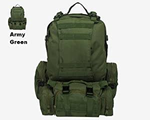 TopOutdoor Outdoor Sport Mountaineering Backpack Tactical Military Combat Bag Assault Pack Army Green