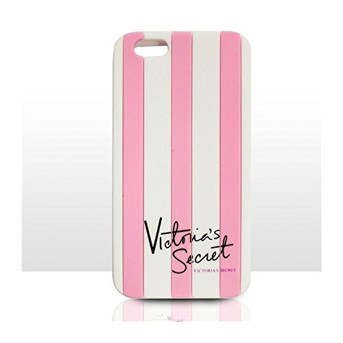 Victoria's Secret & Iphone 5, motivo a righe, per Apple Iphone 6-cover rigida in silicone per Apple Iphone, colore: rosa, Gomma, rosa, iPhone 6