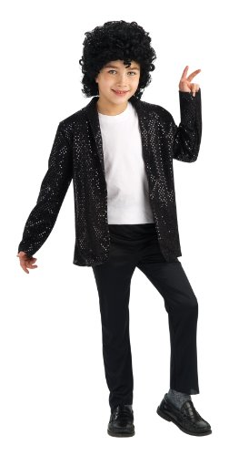 Michael Jackson Costume, Child'S Deluxe Billie Jean Sequin Jacket Costume, Small-Size 4-6, For 3-4 Years