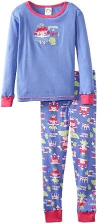 Gerber Little Girls'  2 Piece Pajamas, Princess Kiss, 4T