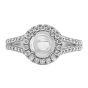 14 karat White Gold Diamond Engagement Ring (1/2 ctw)