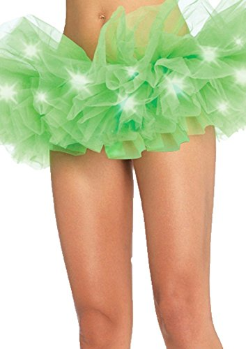 FOONEE Women LED Light Mesh Layered Dance Rave Tutu Skirt