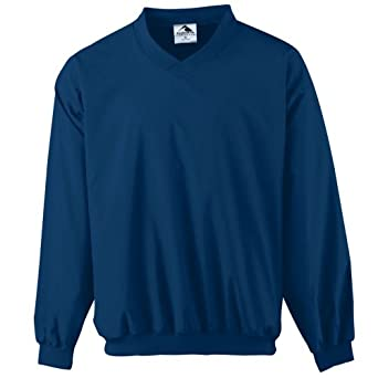 Augusta Mens Long Sleeve Sportswear Wind-Shirt by Augusta