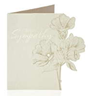 Sympathy Die Cut Floral Greetings Card