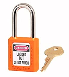 Master Lock 410KAORJ2KEY Safety Series Padlock for Lockout/Tagout Applications, Orange