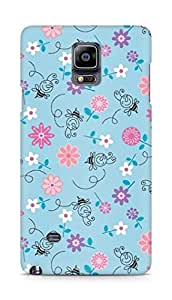 Amez designer printed 3d premium high quality back case cover for Samsung Galaxy Note 4 (flower pattern )