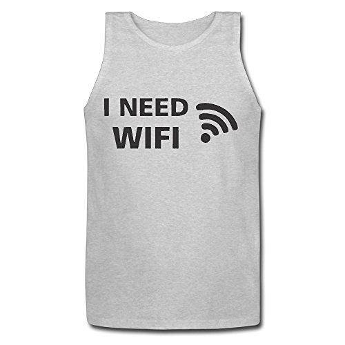 Wifi Canottiera da uomo T-Shirt perfetto Heather Gray XX-Large