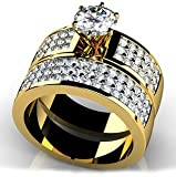 18k Yellow, Triple Channel Bridal Set, 1.76-2.51 ct. (Color: GH, Clarity: VS) thumbnail