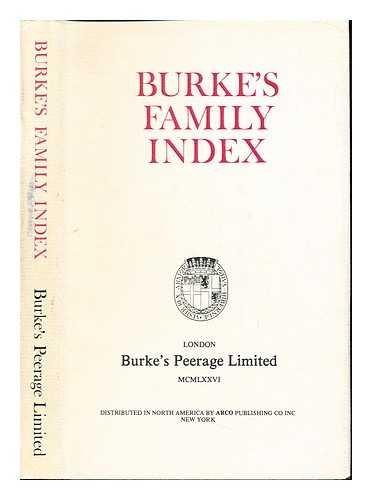 Burke's Family Index