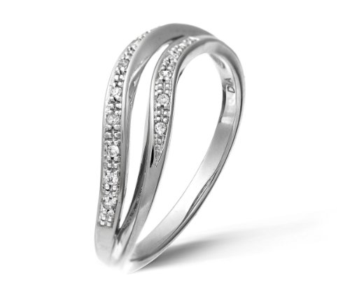 0.05 Carat I Diamond Pave Setting Eternity Ring