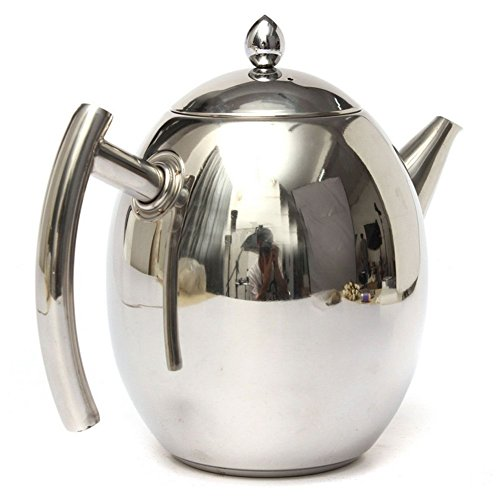 Superb good Stainless steel teapot kettle Kitchen Coffee Pot Olive Pot Cold Kettle Strainer (Antique Tea Kettle Whistle compare prices)