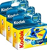Kodak Single Use Camera - Aqua SPORT Waterproof - 27 Exposures - PACK OF 3