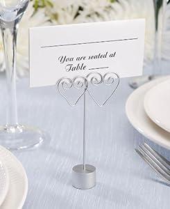 Wedding Bridal Place Card Holder Wire Hearts Reception Decorative Photo Holder